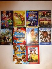 Lot of 10 Disney DVDs: Snow Dogs,Cinderella III,Muppets Wizard Oz,Pirates Caribb
