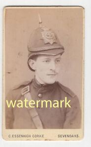 Soldier in uniform, Sevenoaks, Kent, CDV