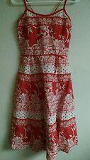 Tibi Dress Size 8 Linen/Cotton Floral Open Back EUC