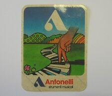 VECCHIO ADESIVO / Old Sticker ANTONELLI STRUMENTI MUSICALI (cm 9 x 11)