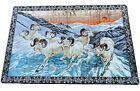 """Vintage Mountain Dall Sheep Wall Tapestry 76"""" x 49.5"""" Mid Century Home Decor"""