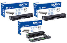 Original BROTHER TONER TN-2420 TN-2410 DR-2400 DCP L2510 D L2530 DW L2550 DN SET