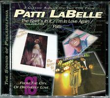 "PATTI LABELLE ""Spirits + In love again + Patti"" 3LP on 2CD, Neu!"