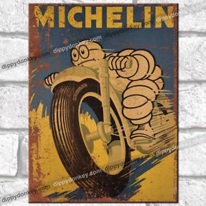MICHELIN Man Motorbike Metal Signs Vintage Retro Bar Pub Garage Replica Tin Sign