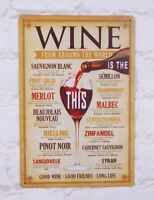 MEAL without WINE Metal Signs Tin Plate Home Bar pub Kitchen House Wall Decor