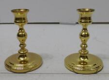 """Set Of 2 Baldwin Brass Candlesticks Candle Holders 4.75"""" Tall"""