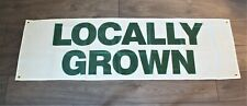 New Locally Grown Fresh Produce Banner Sign Organic Grocery Store Farmers Market