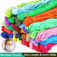 33 yards Stretch Flat Elastic Waist Band Woven Sewing Trouser Dressmaking 6mm