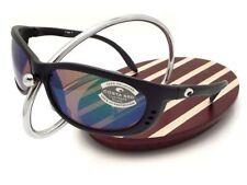 NEW Costa Del Mar FATHOM Black & 580 Green Mirror Glass 580G
