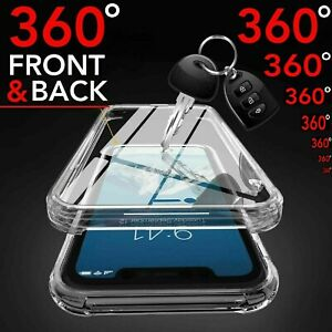 CASE For iPhone 13 Pro Max Mini Silicone Cover CLEAR 360 Front Back shockproof