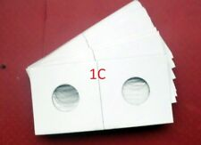 (100) Penny Size 2 X 2 Mylar Cardboard Coin Flips for Coin Storage
