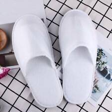 5 Pair White Cotton Slipper Hotel SPA Disposable Shoes Home Guest Supply Slipper