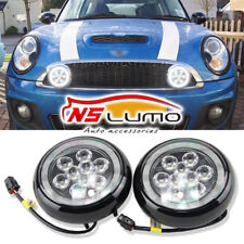Mini Cooper Led Rally Driving Light Halo Ring Angel Eyes DRL Black Shell Lamp