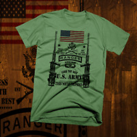 Army Special Forces Ranger T-Shirt Airborne Combat Veteran Military US Flag new