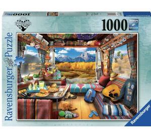 Ravensburger Wanderlust Vanlife Camping 1000 Piece Jigsaw Puzzle New Sealed