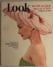 LOOK Magazine June 21 1949 Yalta Bergman Socialized Medicine Polio Connie Mack
