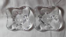 RARE Set of 2 Baccarat crystal BUTTER PATS or SALT CELLARS, signed