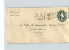 "1895 stamped envelope, SCARCE Flag Machine cancel ""C"", BOSTON, Massachusetts"