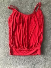 Bebe Red Strappy top Sz. Small