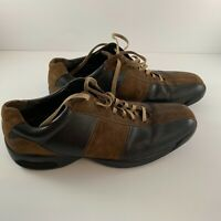 COLE HAAN Men Sz 10 M Lace-Up Driving Brown Black Lace-Up Sneakers Suede