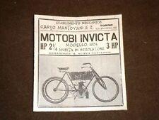 Pubblicità d'Epoca per Collezionisti del 1904 Motobici Invicta Carlo Mantovani