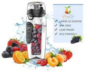 1000ml Fruit Infuseur Bouteille D'eau Infusion Gourde Perfusion Sports Santé