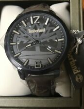 Timberland Black Dial Men's Watch TBL15899JYB61 Faux Leather Brown Logo Band