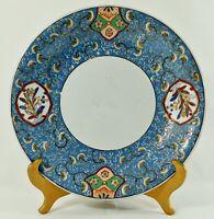 "Antique/Vtg 14"" Chinese Hand Painted BLUE Porcelain Under Plate Platter Bowl"