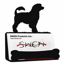 Swen Products Portuguese Water Dog Black Metal Business Card Holder
