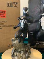 SIDESHOW SPIDER-MAN BACK IN BLACK COMIQUETTE POLYSTONE STATUE