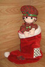 "Pmi (64836) Precious Moments Christmas 16"" Tall Doll ""Noel"" w/ Stocking"