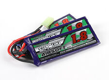 New Turnigy nano-tech 1800mah 3S 25C 50C 11.1V Lipo Battery Airsoft Pack US AS3
