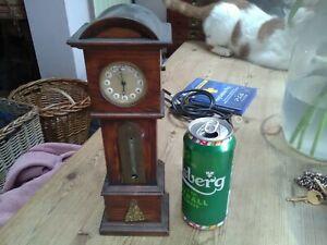 Antique oak miniature pocket watch stand holder