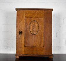 Antique oak wall hanging cupboard - cabinet