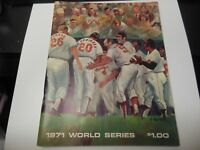1971 WORLD SERIES PROGRAM PIRATES vs ORIOLES WITH RARE GAME TICKET MLB BASEBALL
