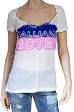 "BNWT John Galliano ""Motel"" White T-Shirt Size L"