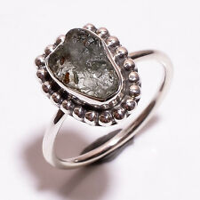 925 Sterling Silver Ring Size US 7.5, Natural Raw Aquamarine Jewelry RSR1187
