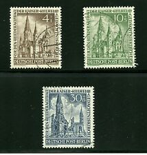 Germany-Berlin #9Nb8-9, 11 (Ge411) Recontruction of Church, Used, Vf, Cv$124.00