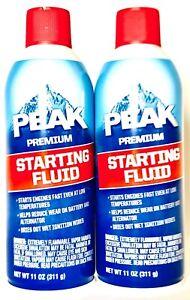 2 Count Peak 11 Oz Premium Starting Fluid Starts Fast Even At Low Temperatures