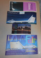 vintage lot of Futurama New York Worlds fair 1964 - 1965 postcards booklet paper
