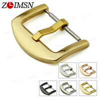 10Pcs ZLIMSN Scrub Stainless Steel Brushed Black Gold Watch Band Clasp Buckle