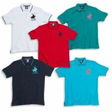 Blue Polo Neck T-Shirts & Tops (2-16 Years) for Boys