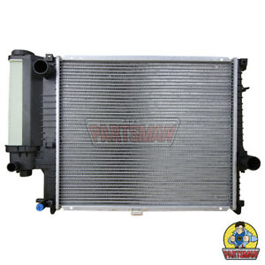 Radiator BMW E34 5 Series With Expansion Tank 4Cyl & 6Cyl 9/88-3/96 Manual Trans