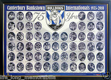 CANTERBURY BANKSTOWN BULLDOGS  INTERNATIONALS POSTER FRAMED AND FULLY GLASSED