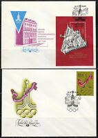 Russia 1976 set of 4 FDC covers Moscow'80 Olympic Games SC B58-B61 RARE