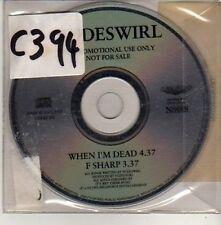 (CU523) Nudeswirl, When I'm Dead - 1993 DJ CD