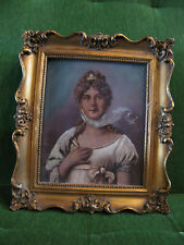 Antique Late 19th Century Likely American School Oil Portrait Painting of Woman