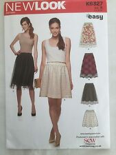 New Look K6327 - Full Skirt, Overlay Sewing Pattern  8 10 12 14 16 18  20 UNCUT