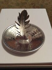 Lucky Brand Silver Tone Feather Ring Holder SB1