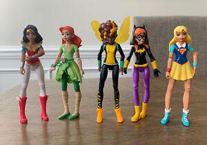 "DC Comics Super Hero Girls 6"" Action Figure Lot 2015 Mattel Wonder Woman Ivy Bee"
